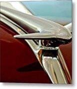 1938 Lincoln Zephyr Hood Ornament Metal Print