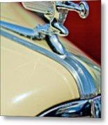 1940 Packard Hood Ornament Metal Print by Jill Reger
