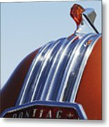 1952 Pontiac Tin Woodie Wagon Hood Ornament Metal Print