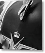 1954 Chrysler Imperial Sedan Hood Ornament 3 Metal Print
