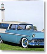 1956 Chevrolet Bel Air Nomad Wagon Metal Print