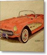 1957 Corvette Metal Print