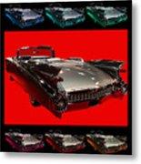1959 Cadillac Eldorado Convertible . Wing Angle Artwork Metal Print