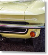 1965 Yellow Sting Ray Front Bumper Metal Print