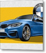 2016  B M W  M 3  Sedan With 3 D Badge  Metal Print