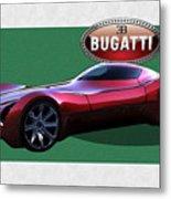 2025 Bugatti Aerolithe Concept with 3 D Badge  Metal Print