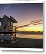 7901- Miami Beach Sunrise  Metal Print