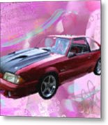 93 Mustang Metal Print