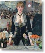 Edouard Manet - A Bar At The Folies-bergere Metal Print