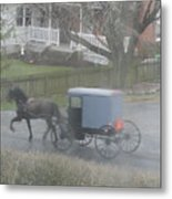 A Buggy Passes By Metal Print