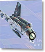 A Bulgarian Air Force Mig-21bis Armed Metal Print
