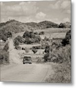 A Country Ride Metal Print
