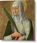 A Female Saint Metal Print