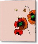 A Few Poppies Metal Print