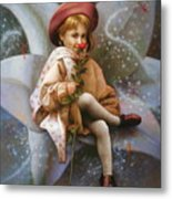 A Girl And A Fairy Of 7 Metal Print