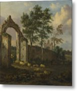 A Landscape With A Ruined Archway Metal Print