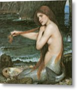 A Mermaid Metal Print