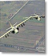 A Pair Of Bulgarian Air Force Sukhoi Metal Print