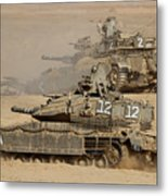 A Pair Of Israel Defense Force Merkava Metal Print