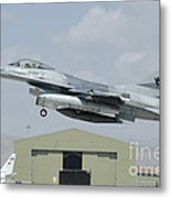 A Pakistan Air Force F-16a Taking Metal Print