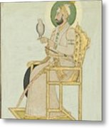 A Portrait Of Muhammad Shah Metal Print
