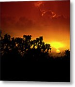 A Red Hot Desert Sunset  Metal Print