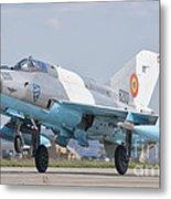 A Romanian Air Force Mig-21c Taking Metal Print