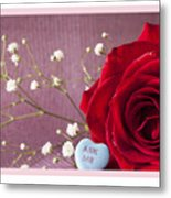 A Rose For Valentine's Day - 2 Metal Print