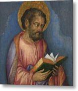 A Saint With A Book Metal Print