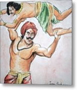 A Scene From Mahabharata Metal Print by Tanmay Singh
