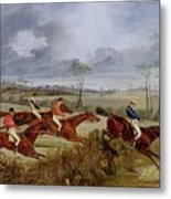 A Steeplechase - Near The Finish Henry Thomas Alken Metal Print