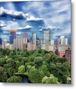 A Summer Day In Boston Metal Print