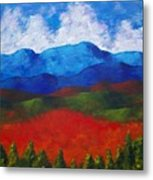 A View Of The Blue Mountains Of The Adirondacks Metal Print