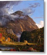 A View Of The Mountain Pass Called The Notch Of The White Mountains Metal Print