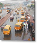 A Wet Day In Lagos Metal Print