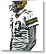Aaron Rodgers Green Bay Packers Pixel Art 5 Metal Print