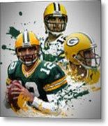 Aaron Rodgers Packers Metal Print