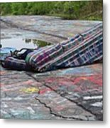 Abandoned Couch On The Graffiti Highway Metal Print