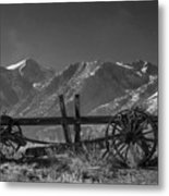 Abandoned Wagon In The High Sierra Nevada Mountains Metal Print