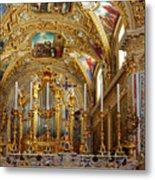 Abbey Of Montecassino Altar Metal Print