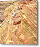 Above Wash 3 In Valley Of Fire Metal Print