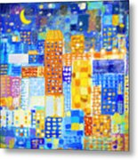 Abstract City Metal Print