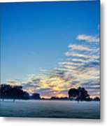 Abstract Early Morning Sunrise Over Farm Land Metal Print