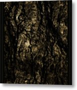 Abstract Gold And Black Texture Metal Print