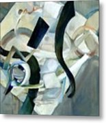 Abstract In Gray Metal Print