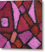Abstract In Pink Metal Print