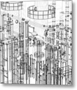 Abstract Industrial And Technology Background Metal Print