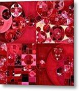 Abstract Painting - Dark Scarlet Metal Print