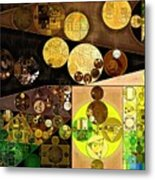 Abstract Painting - Golden Sand Metal Print