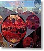 Abstract Painting - Seller Pomegranate Metal Print